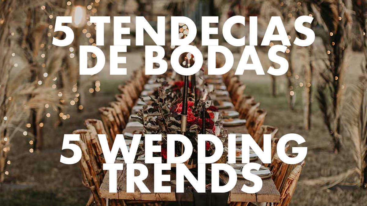 Lee más sobre el artículo Cinco nuevas tendencias en las bodas